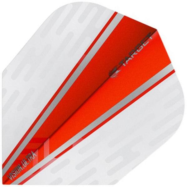 Vision ultra flights - hvid/rød fra target på dartshop