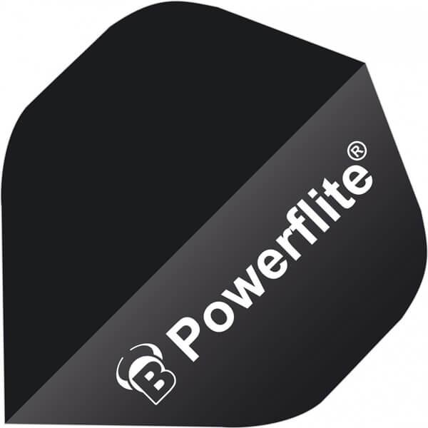 bull's – Powerflite flights - sort - 6-pack fra dartshop