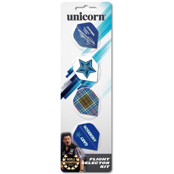 Unicorn Gary Anderson 4-pack Flightsæt
