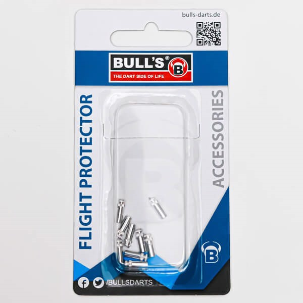 Bull´s flight skåner aluminium (sølv) - 9 stk. fra bull's fra dartshop