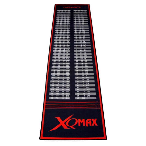 Xq max darts, check-out sort/rød tæppe fra xq max på dartshop
