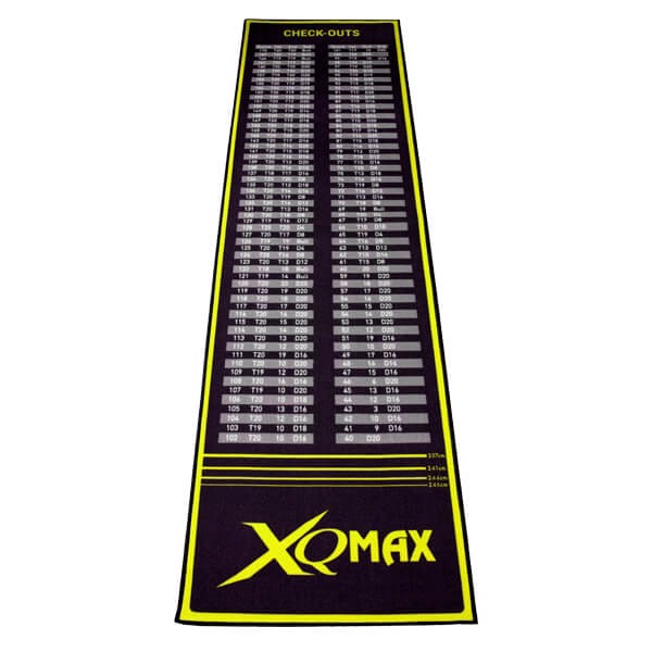 xq max Xq max darts, check-out sort/gul tæppe på dartshop