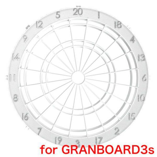 gran darts – Spider med nummerring (hvid - til granboard 3s) fra dartshop